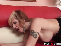 Busty mature GILF interracial creampie