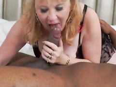 Mature size queen gets fucked by a BBC in a cuckold scene