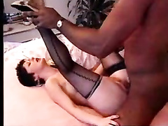 Tricky wife in black stockings seduced brother