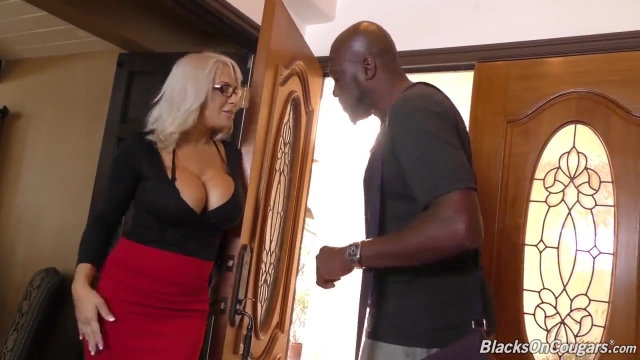 White haired mother sucks and fucks bbc