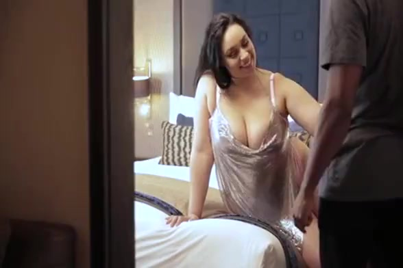 Hot white hotwife with big tits and ass loves being fucked by big black dick and cuck her hubby while he films that from the spare room. This hung bull also breeds his wifey with his warm strong cum right inside her pussy.