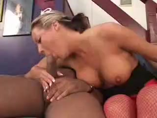 Blonde Queen Of Spades gets black dp by two bullies