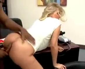 Blonde office wife gets her cunt destroyed