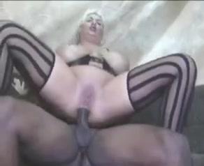 Black pimp fucks white mom in lingerie