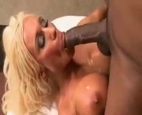 Blonde busty white wife enjoys being blacked