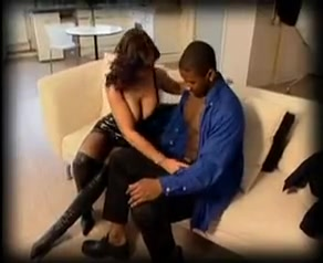 Super cuckold mommy in her sexy outfit and a brutal black mandingo wishing to take all her holes great anal and facial.