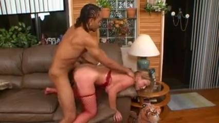 Red lingerie blonde mom gets fucked by son's bully