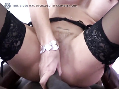 Big titted brunette hotwife takes hard bbc pounding