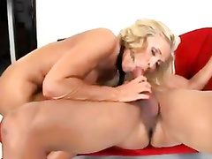 Black cock only blonde mom loves anal