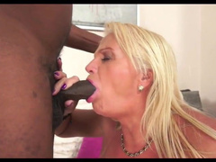 Blonde mature gilf interracial anal fuck