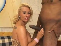 Brazilian blonde hotwife fucked by BBC in front of husband